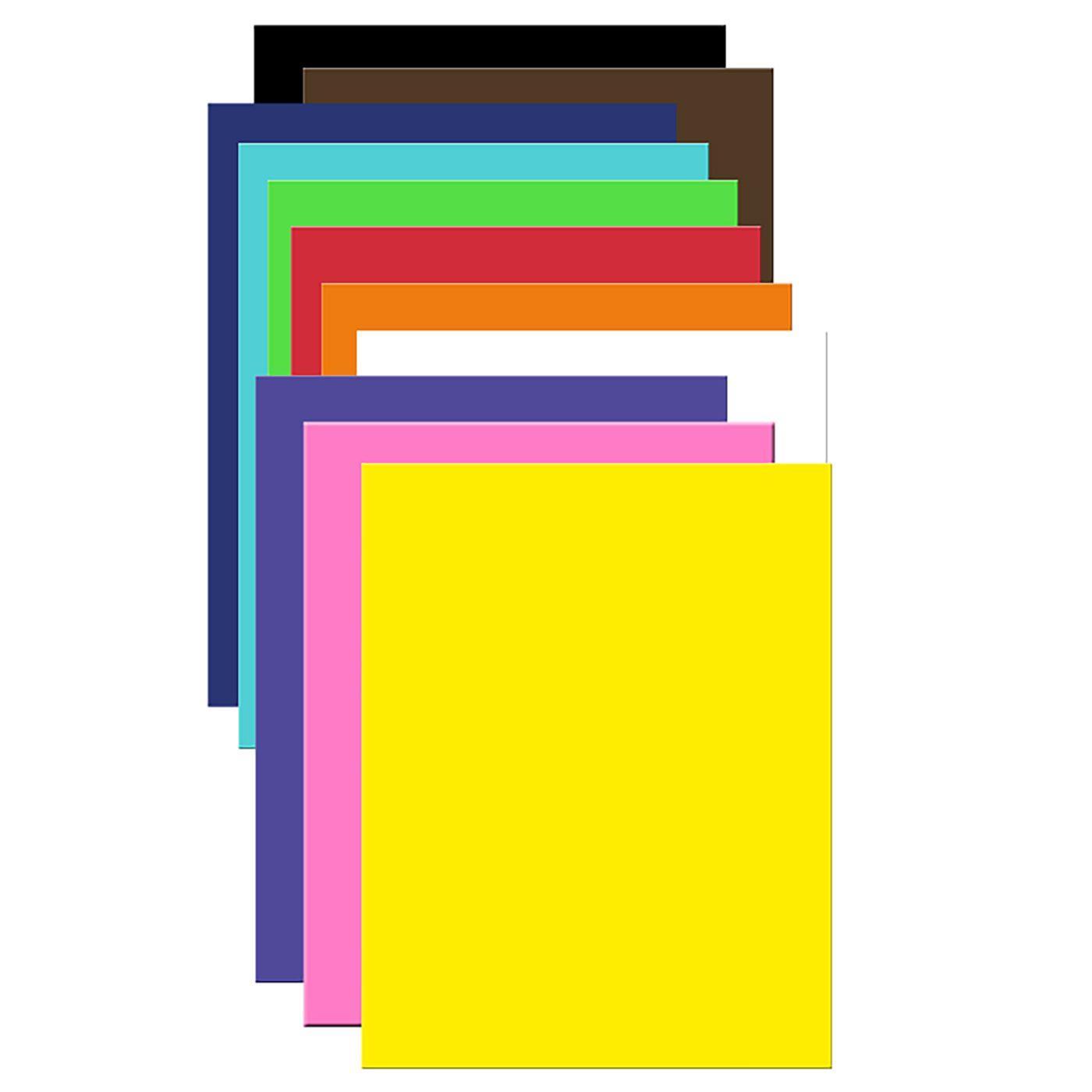 ΧΑΡΤΟΝΙΑ ΚΟΛΑΖ  ΧΡΩΜΑΤΑ όλα τα χρώματα=50x70cm (μονο το μπλέ,λευκο=57x79cm)