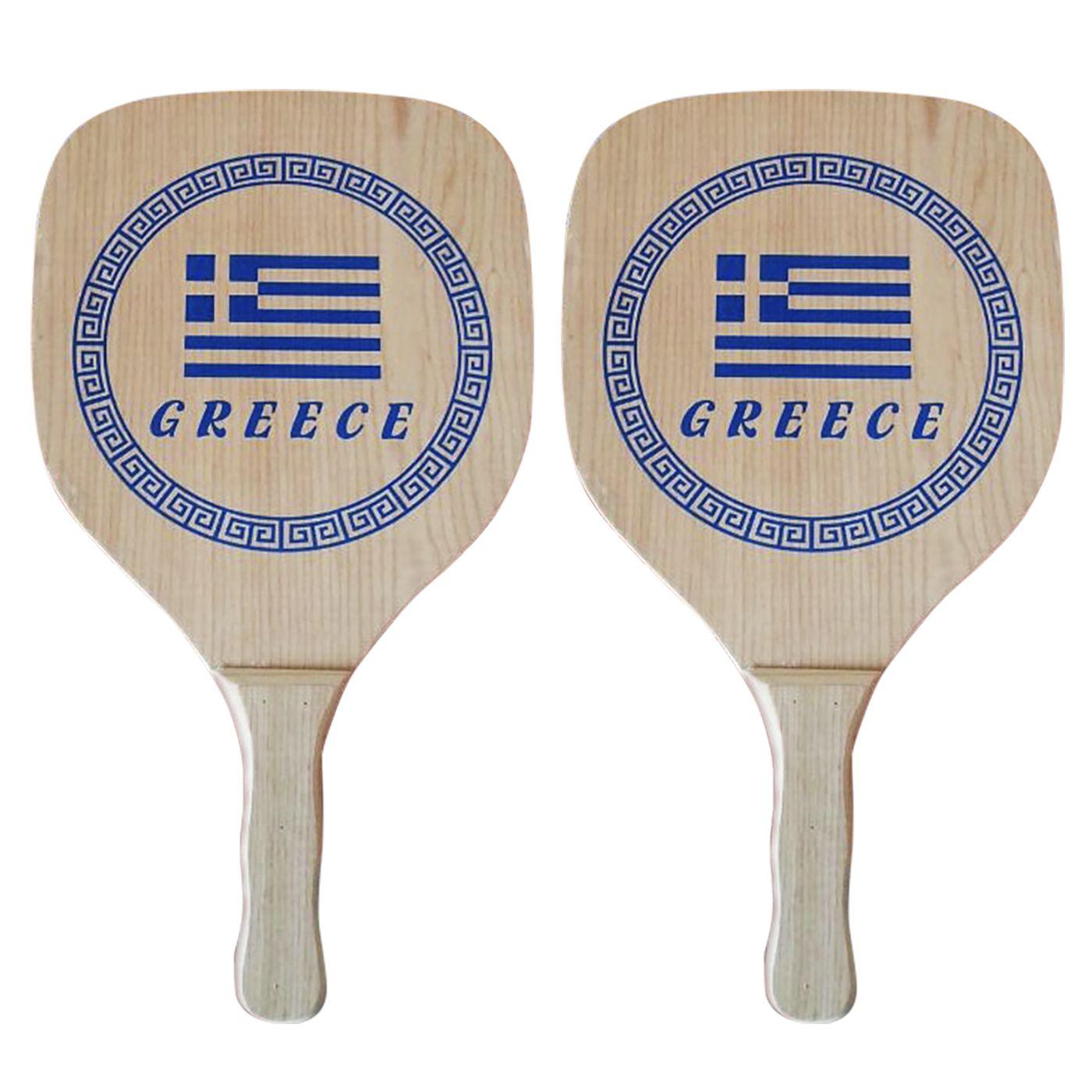 ΡΑΚΕΤΑ ΞΥΛΙΝΗ GREECE ΣΕΤ=2ΤΕΜ 40x22x1,2cm