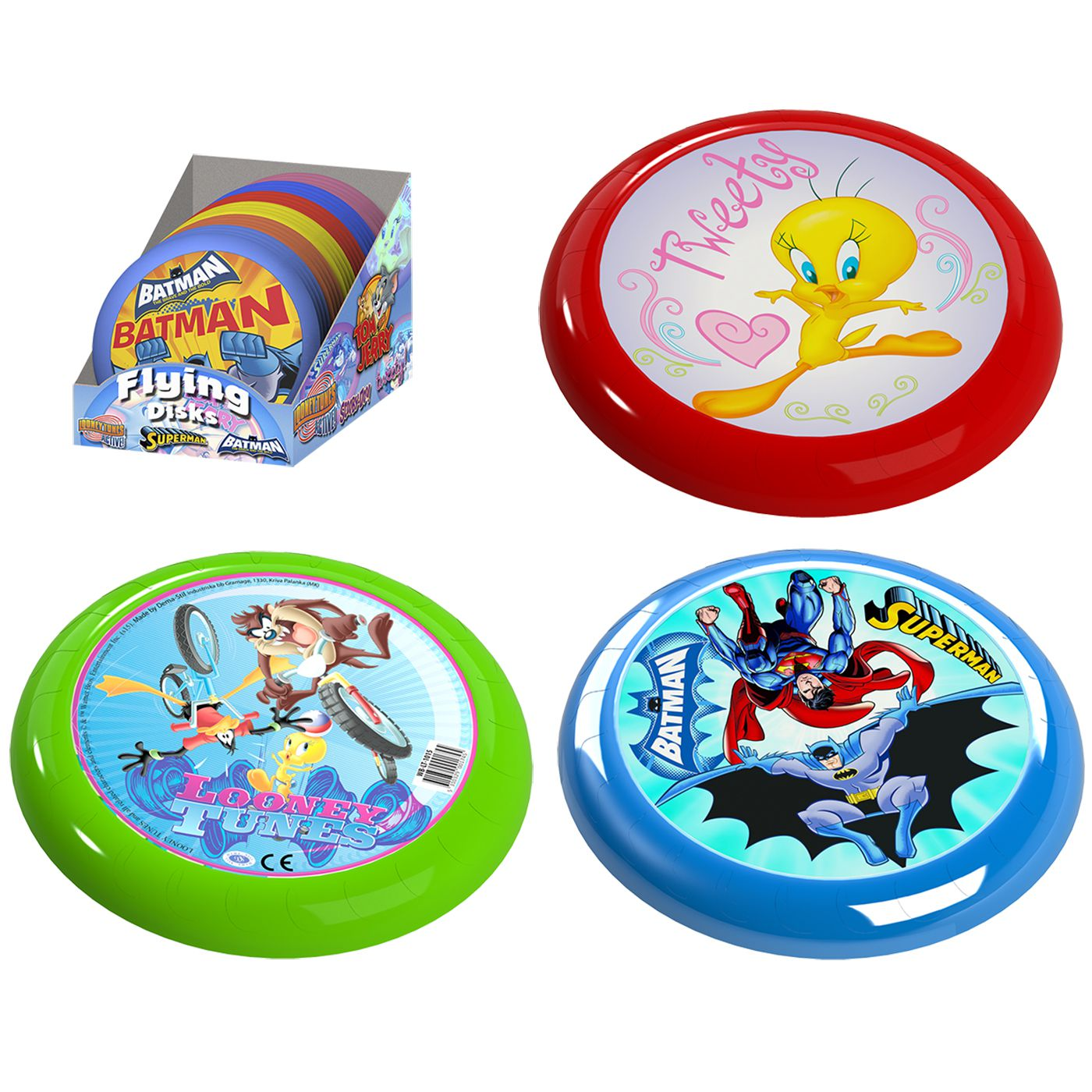 ΦΡΙΣΜΠΙ TWEETY, LOONEY TUNES, SUPERMAN & BATMAN Φ 20cm