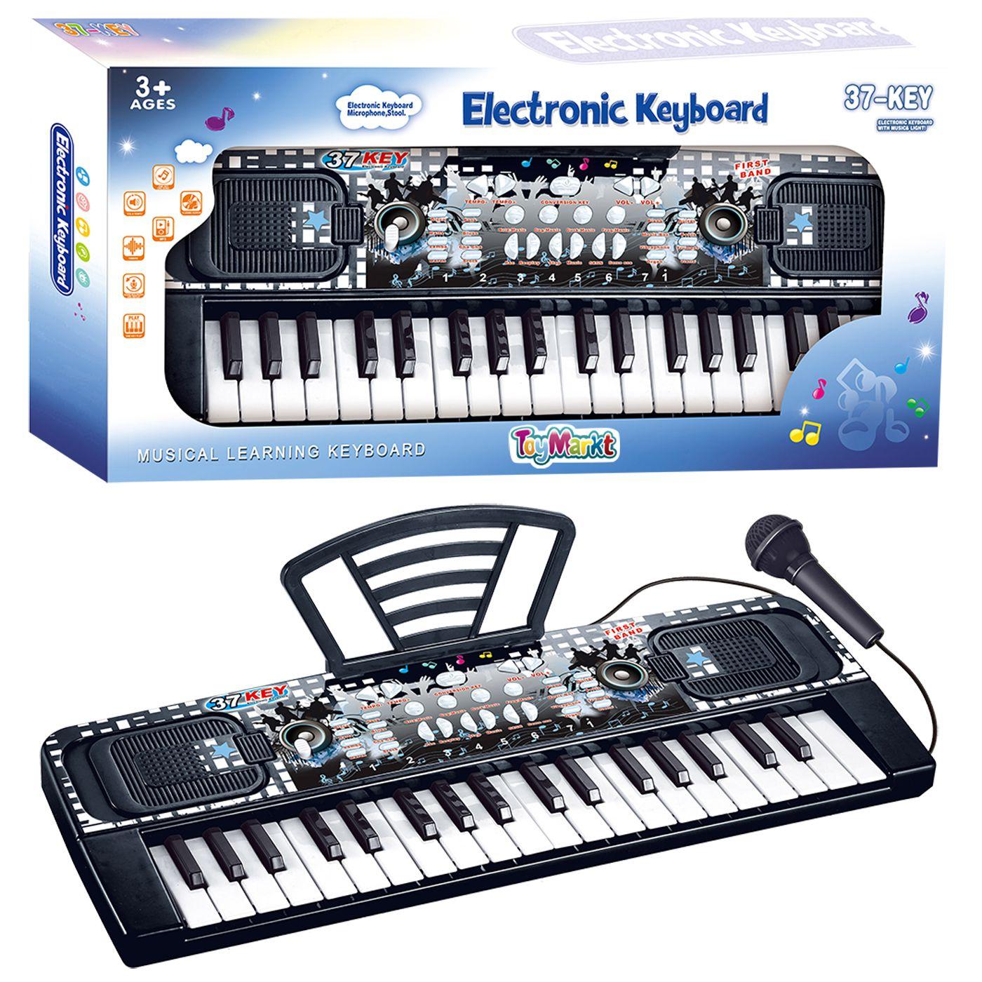 ELECTRONIC KEYBOARD 37 KEYS 50x25x5cm